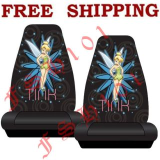 brand new tinkerbell pixie power car truck bucket seat cover