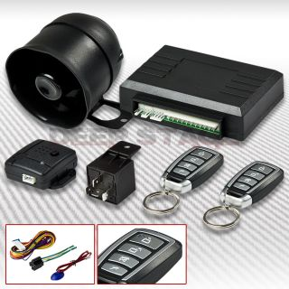 way car auto security alarm system set kit siren+ 4 button keyless