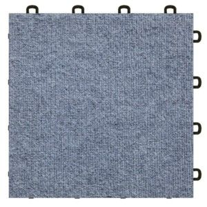 Handyman Interlocking Basement Carpet Tiles Gray