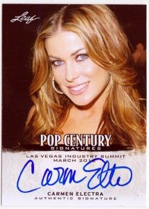 Carmen Electra 2012 Leaf Pop Century Signatures Industry Summit Las