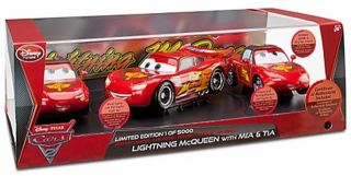 Disney Cars 2 Limited Edition Lightning McQueen with MIA Tia Die Cast