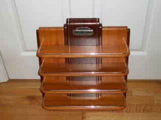 FRANKLIN MINT Worlds Greatest Luxury Cars Wood Display Shelf
