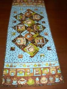 CAPPUCINO CAFE LATTE Quilted Table Runner TR 2A