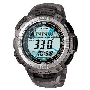 Casio Mens Pathfinder Atomic Solar Triple Sensor Titanium Watch