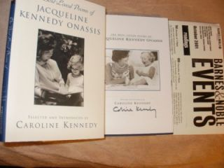 Caroline Kennedy Signed 1st 1st The Best Loved Poems of Jacqueline