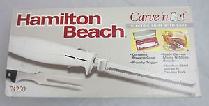 Hamilton Beach Carve n Set Electric Knife and Carving Folk in Case