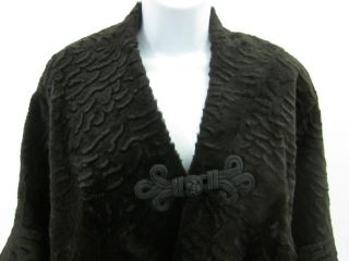 cassin brown sheared fur stole wrap sz one size