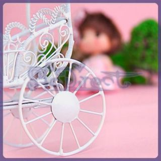 Miniature Dollhouse Horse Baby Carriage Buggy Doll Furniture