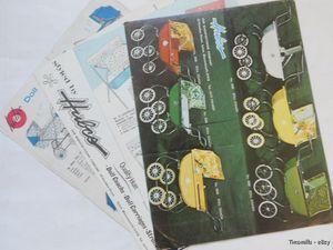 Vintage Hubco Baby Doll Stroller Carriage Catalog Lot 1970 Original