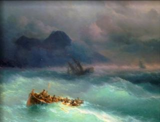 Carl Frederic Aagaard The Shipwreck, 1873 Handmade Oil Painting repro