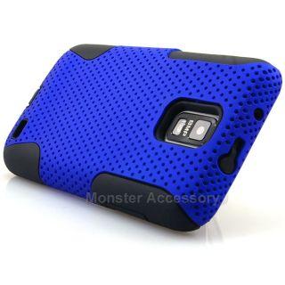 Blue Apex Hybrid Gel Hard Case Cover for Samsung Galaxy S2 Skyrocket