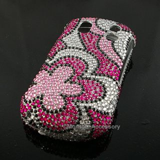 Pink Flower Diamond Bling Hard Case Samsung Intensity 2