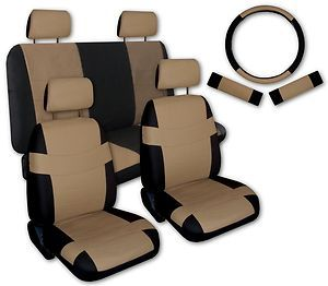 Tan Black Faux Leather Next Generation Car Seat Covers Free