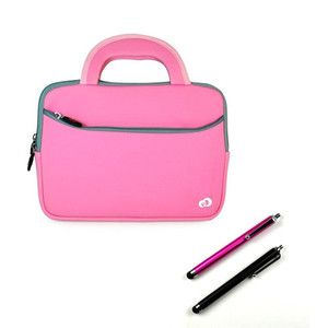 Pink Sleeve Carrying Case Cover Apple iPad3 iPad 3rd Generation w 2x
