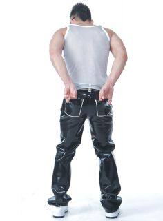Latex Gummi Rubber Casual Active Pants Black Free Swimwear M