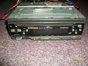 Original Pioneer Radio in car stereo removable face plate used