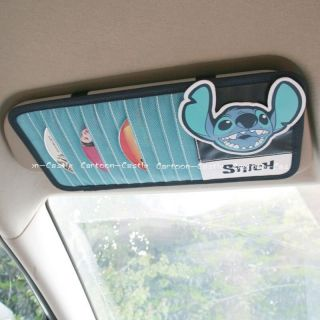 Lilo Stitch Car Sunshade Cover Sun Visor CD Holder