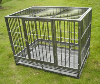Large 42 Heavy Duty Dog Pet Cat Cage Crate Kennel HS