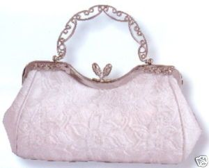 Carlo Fellini White Denise Wedding Evening Handbag