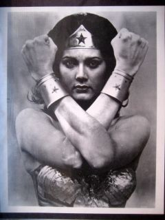 Lynda Carter as Wonder Woman Black White Photo 10 x 8