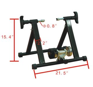 Indoor Exercise Kinetic Bicycle Bike Trainer Stand Black 20
