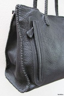 Italian Carlos Falchi Animal Zebra Leopard Print Leather Handbag Purse
