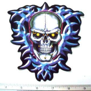 Skull Devil Tattoo Ghost Dragon Demon Sticker Decal 4.75x5.25