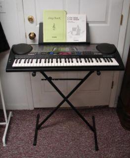 Casio CTK 551 Keyboard Electric Piano w Box Stand 100 Song Bank