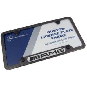 Mercedes Benz AMG Logo Carbon Fiber License Plate Frame