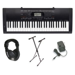 Casio Complete Pack Piano Electronic Keyboard w/ AC Plug & Stand Fast