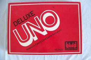 Deluxe Uno Card Game IGI 1983 Complete Good Condition