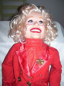 CAROL CHANNING VENTRILOQUIST DOLL Goldberger dummy puppet WORKS