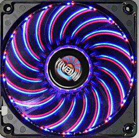Duo 120mm Blue Red Combo LED Case Fan Twisterbearing UCTVD12A