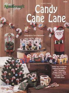 Plastic Canvas Candy Cane Train Basket Garland Coasters Doorstop Tree