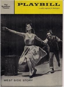 & Playbill WEST SIDE STORY Broadway Theatre Musical Carol Lawrence