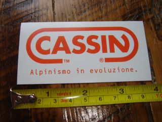 cassin rock climbing harness sticker decal new this auction is for the