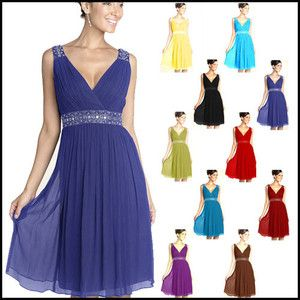 Bridesmaid Cocktail Party Prom Dress Formal Dress All Size
