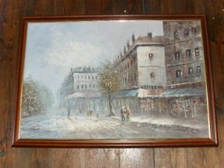 Abstract Paris Street Scene Oil Painting by Caroline C Burnett