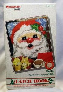 WonderArt by Caron International 4634 Santa Latch Hook Kit   12 x 12