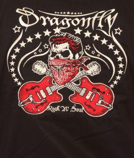 Dragonfly Clothing El Skull Jacket Dead Rocker Guitars Embroidery