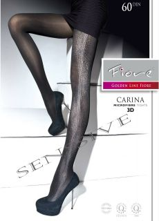 MICROFIBER TIGHTS PANTYHOSE * CARINA * FIORE OPE size M LIGHT GRAY