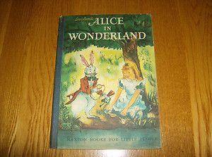 Rare Vintage Lewis Carrolls Alice in Wonderland Maxton Books for