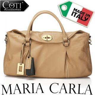 BNWT Italian Designer Maria Carla Leather Handbag Bag Purse Clutch RRP