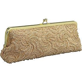 Carlo Fellini 61 7014 Satin Beaded Clutch Evening Handbag Bag Purse 5