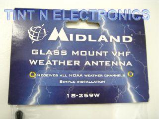 MIDLAND 18 259W WINDOW MOUNT WEATHER BAND CB RADIO ANTENNA FS