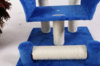 30 BLUE Cat Tree Condo House Scratcher Pet Furniture Bed 42