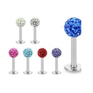 Stones Labret Lip Monroe Ring Cartilage Piercing Jewelry L116
