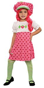 Strawberry Shortcake Cartoon Character Pink Dress Up Halloween Child