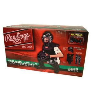 CATCHERS GEAR SET Rawlings Youth Baseball Ages 10 14 Helmet Shin Chest