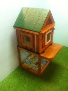 Cedar Heated Insulated Outdoor Cat House with Stand Shelter Bed Condo